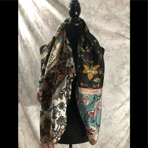 Vince camuto floral print silk scarf